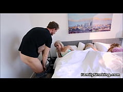 HD Step Dad Wakes Up Teen Daughter - See Full Video @ FamilyStroking.com