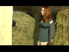 Teen German Redhead Fucking in the Barn