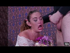 Big ass babe, Kat Monroe, gets a brutal face fucking, rimjob punishment