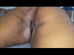 black bubble butt gets pounded and creamed deep inside