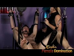 Mistress Nicolette has no mercy for her helpless skinny slave-6