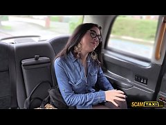 Attractive Julia enjoys ass banged hard in the cab