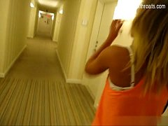 Cheating girlfriend fucks in hotel room