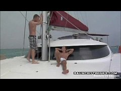 Two Raunchy Twinks Sail Boat Screwing