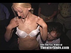 Carla Swallowing Complete Stranger's Cum at The Porn Theater