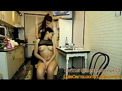 Hot Lesbian Plays With Her Friend on Cam Then Squirts in the kitchen