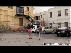 Sindy Lange and Penny Pax Interracial Sex in a gloryhole
