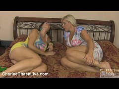 milf lesbian pussy licking with charlee chase and carey riley
