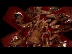 Surreal reverse gang bang for Rocco Siffredi