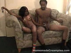 Black Hot Girl Fucking and Creampie finish