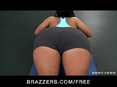 horny big-boob slut gymnast bella reese fucks trainer s big-dick