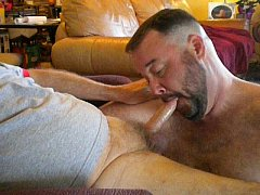 Sucking Daddy's Cock and Getting A Facial
