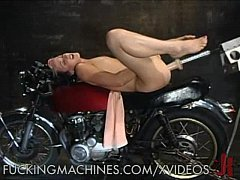 Babe Plays With Her Pussy on a Motorcycle