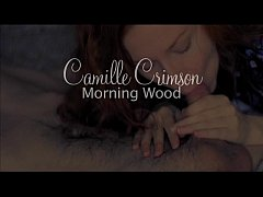 Camille Crimson Gives Morning Wood Blowjob