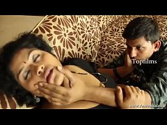 desimasala.co - Fat aunty huge boob show and groping romance with young guy
