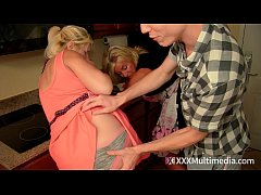 Step mom and sister fucked by young stepson MILF Fifi Foxx Payton Hall