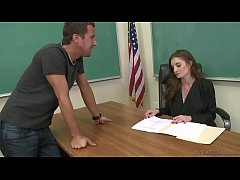 Silvia Saige Banged On School Desk