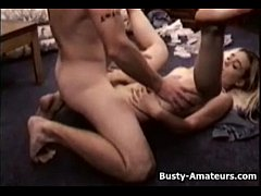 Busty blonde Sunny getting banged