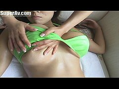 Asian Big boobs massage Technic with Hitomi Takana