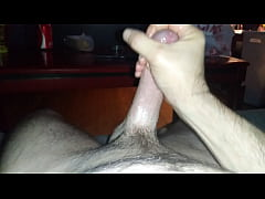Stroking his dick