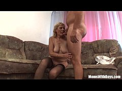 HD Blonde Old Mama In Stockings Shaved Pussy Fucked