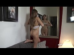 Teen Talia invites you into her bedroom