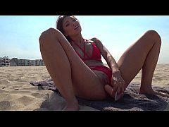 FUCK Asian Lifeguard on the Venice Beach POV/Public