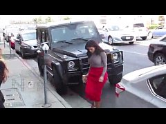 (Video) Kim Kardashian B tt Too Big For Her Tight Skirt Can't Get Out Of Her C