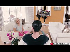 HD Cleo Vixen rides her step bros big cock on top bouncing