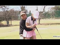 HD Subtitled uncensored HD Japanese golf outdoors exposure