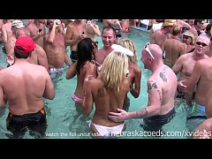 HD crazy party milf naked pool party