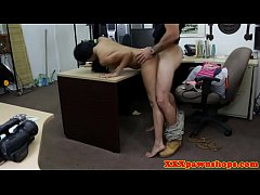 Desperate latina nailed by pawnbroker