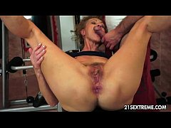 old granny getting fucked hard in the ass