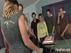 Big titty Codi get a fat load to the face for her birthday