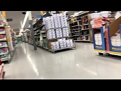 HD A Real Freak Recording a Hot chick at Walmart -
