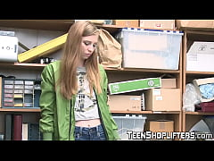 Gorgeous young shoplifter gets a facial