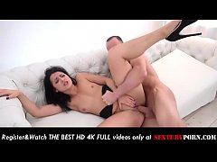 Deep anal gaping fuck with sexy sister in spoon style
