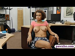 pretty ebony banged by horny pawn dude
