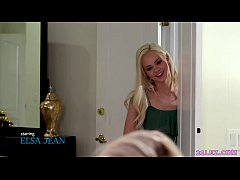 Lesbian college girl doesn't let her roommate to learn! - Elsa Jean and Lexi Lore