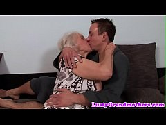 Chubby granny gets her ass rimmed and fucked