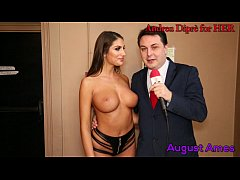 HD August Ames gives a blowjob lesson for Andrea Diprè
