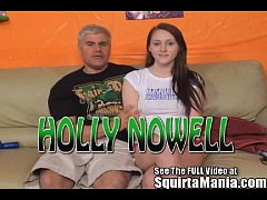 All natural teen Holly Nowell squirting on Porno Dan