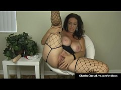 horny brunette milf charlee chase bangs her box and butthole with her favorite fat ass dildo and butt plug that she sticks inside her pussy and ass over and over until she cums