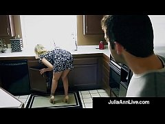 Step Mom Milf Julia Ann Gets A Load On Her Face By Step Son!