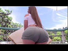 Damn sexy chick  Abby Cross gets hardcore doggystyle outdoors