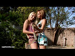 Ass Adventures with Nikitta and Rikki have lesbian anal fun outdoors