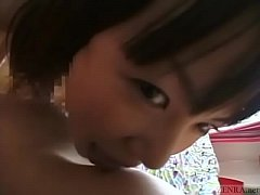 Subtitled bizarre and funny Japanese teen foreplay in POV