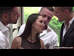Lilu Moon gets analed by three big cocks