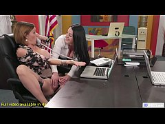 Lesbian Anal Threeway Sex In The Office