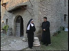 Two nuns are comforting a sister, but she don't...